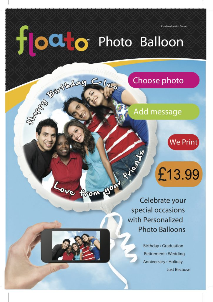 Floato Balloon Poster £13.99
